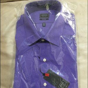 Brand new purple shirt wrinkle free!